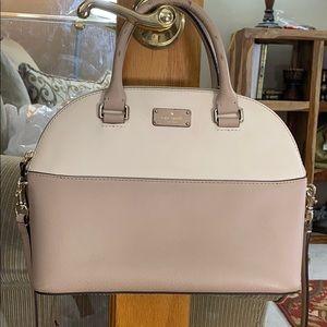 ♠️ Kate spade gorgeous mauve white med satchel ♠️